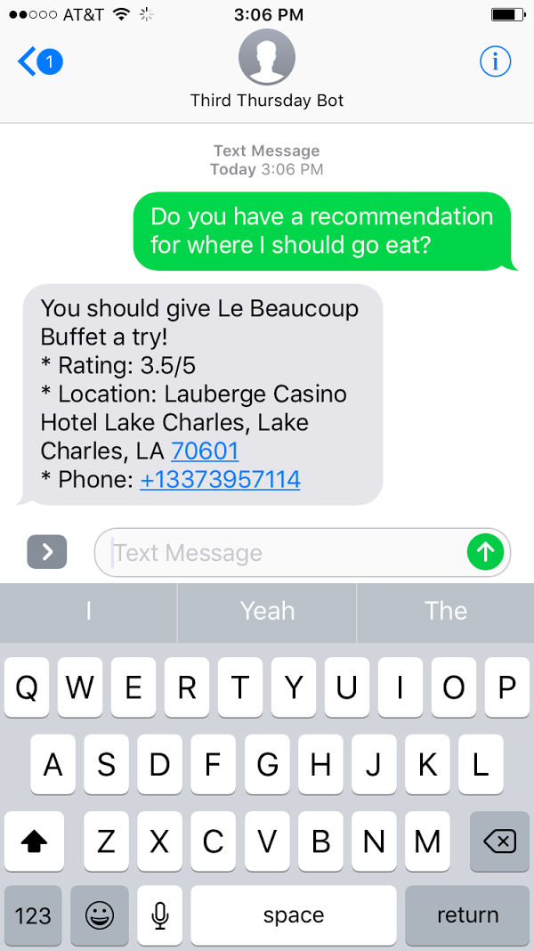 How the Microsoft Bot Framework Changed Where My Friends and I Eat: Part 2