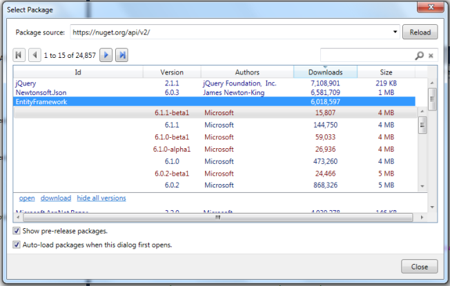 Using the NuGet Package Explorer to Create, Explore and